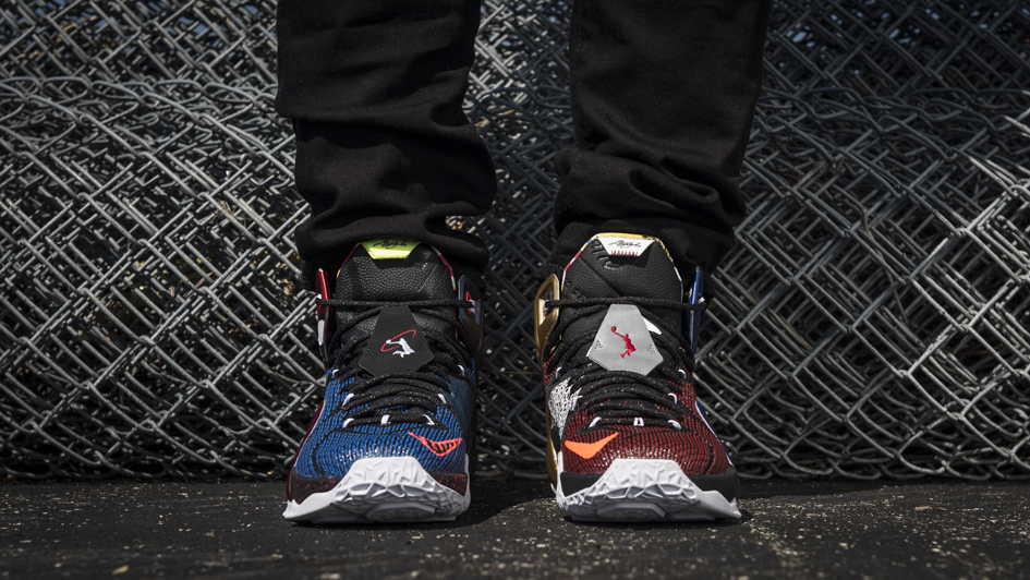 Nike LeBron 12 'What The' on fet