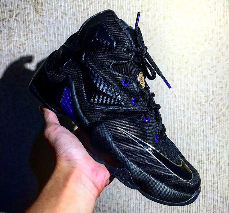 Nike LeBron 13 dunkman purple black gold