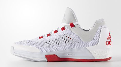 adidas CrazyLight Boost 2015 White Clear Grey – Red Main