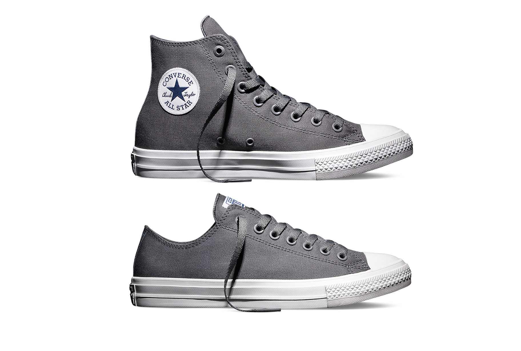 Converse Chuck Taylor All Star II high low 'Charcoal' lateral