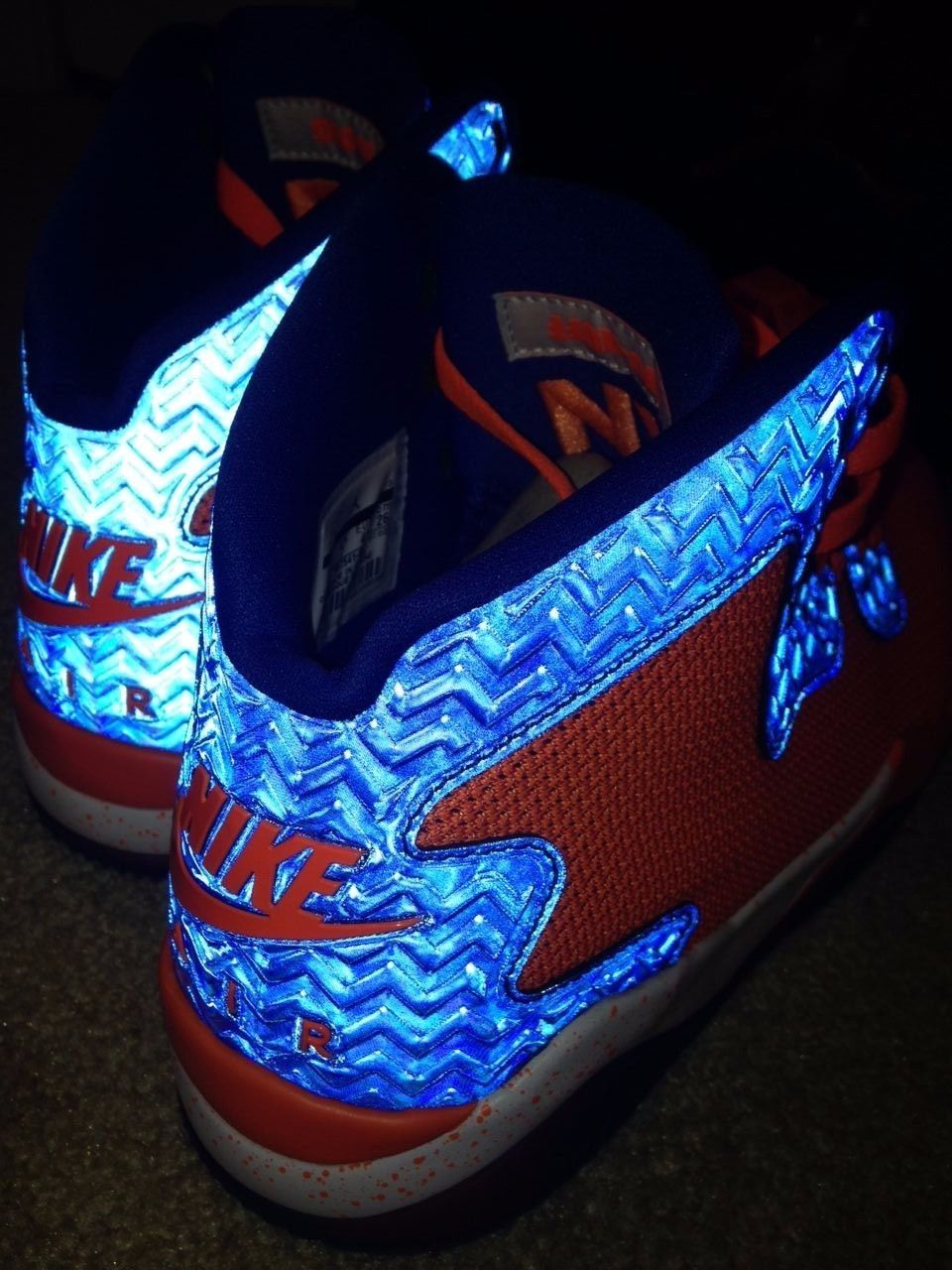 Jordan Air Spike 40 Knicks Orange 3m reflective