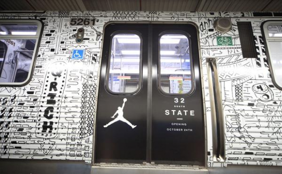 Jordan Brand Commandeers a Chicago Subway Train-1