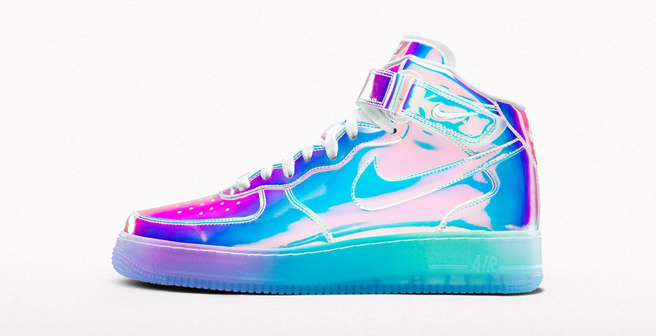 Nike Air Force 1 Iridescent id custom