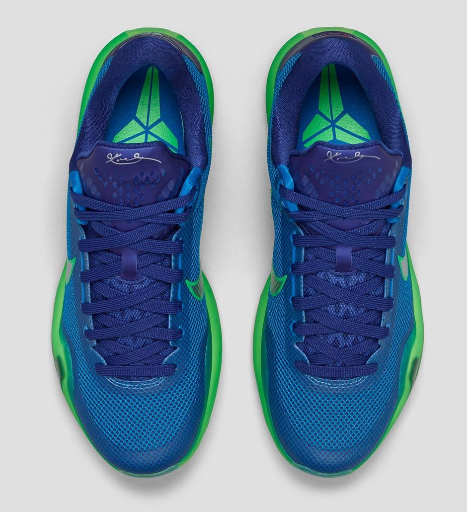 Nike Kobe X 'Emerald City' top view