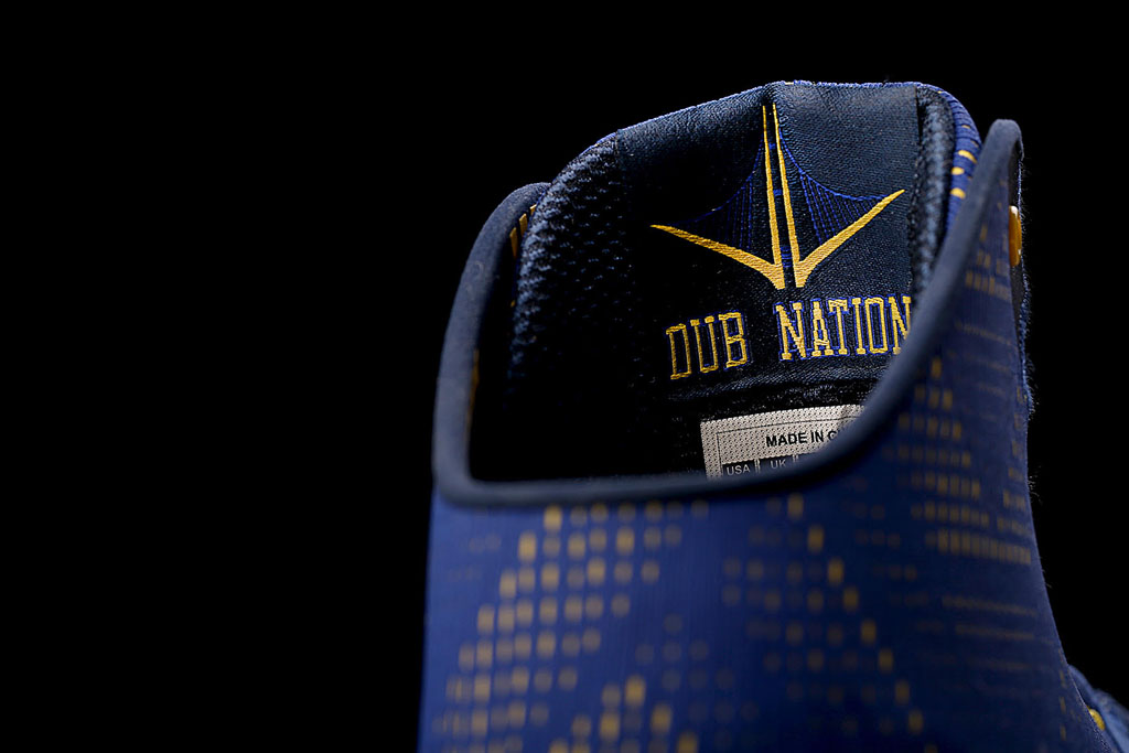 Under Armour Curry Two 2 Dub Nation inner tongue