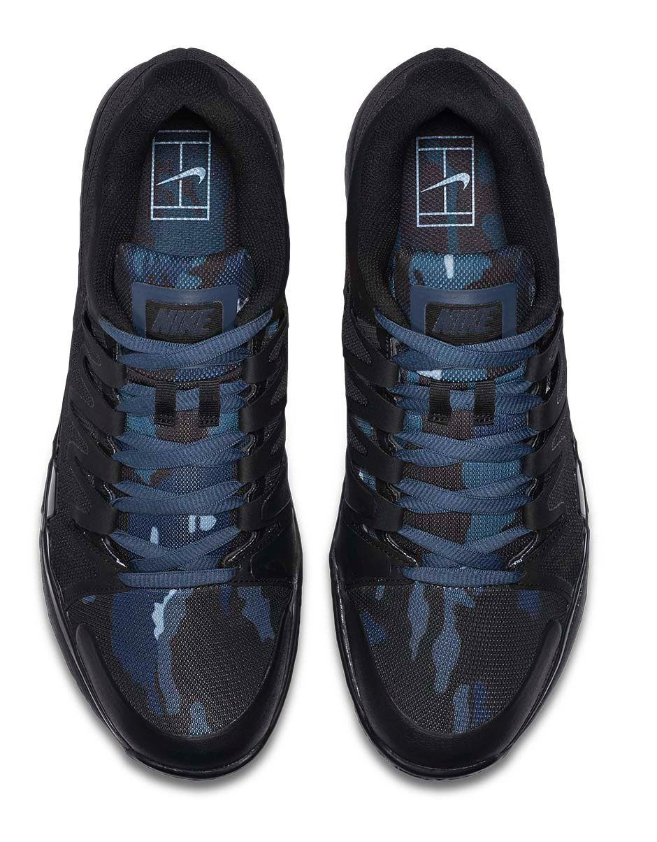 Nike Zoom Vapor 9.5 Camo blue top view