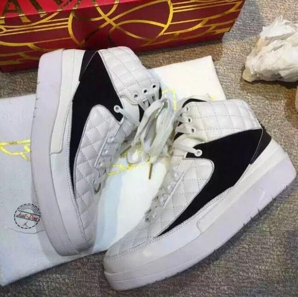 don c air jordan 2 white black