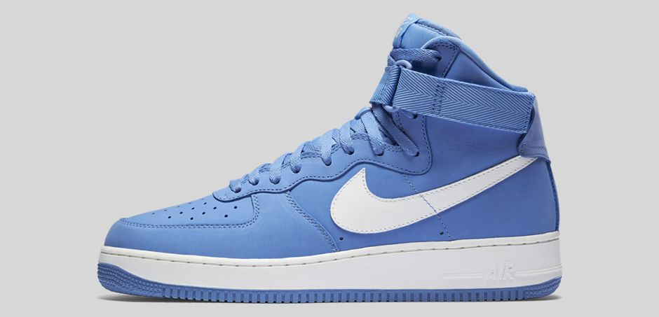 Nike Air Force 1 High 'Carolina Suede' lateral