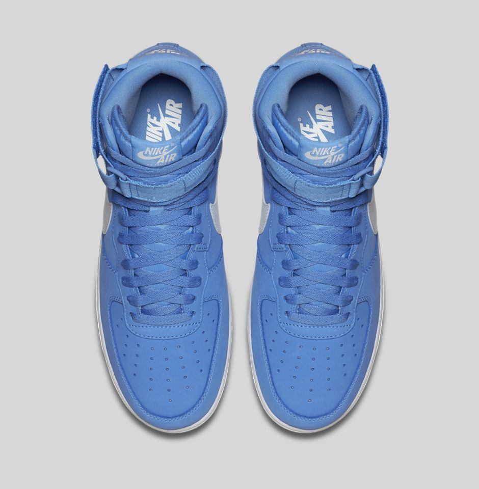 Nike Air Force 1 High 'Carolina Suede' top view