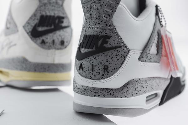 White Cement Jordan 4 Nike Air vs. OG