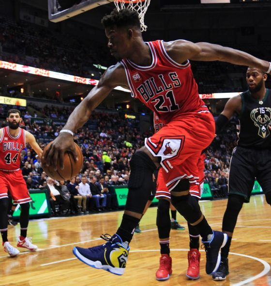 Jimmy Butler Wears a Team Shoe, But Not a Bulls One