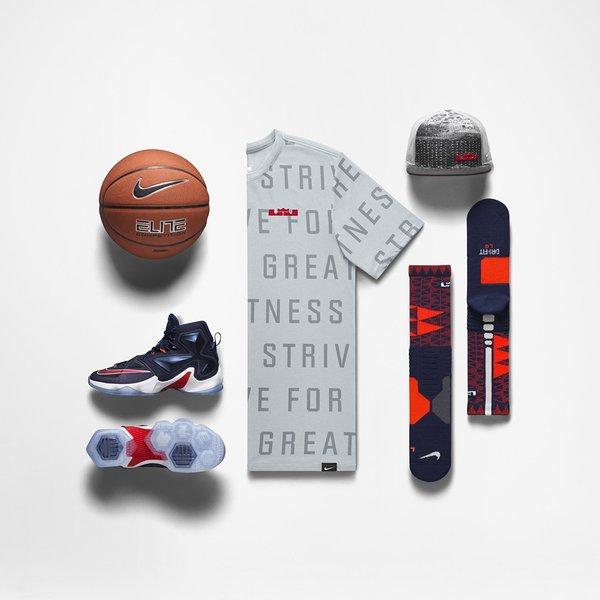 Nike LeBron 13 usa team independence outfit shirt socks