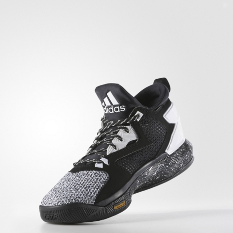 Another Look at the adidas D Lillard 2 in Black: White 2