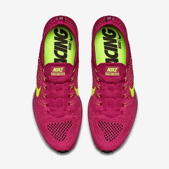 Nike Flyknit Racer Fireberry 4