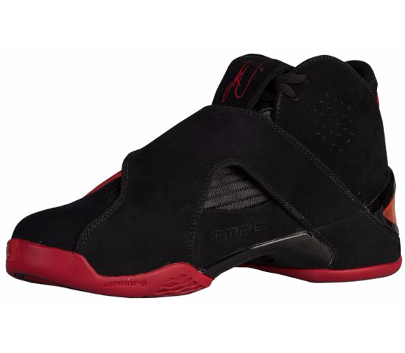 The adidas T-Mac 5 in Black Red is Available Now at FootLocker 2