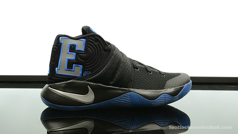 The Nike Kyrie 2 in this Duke Colorway