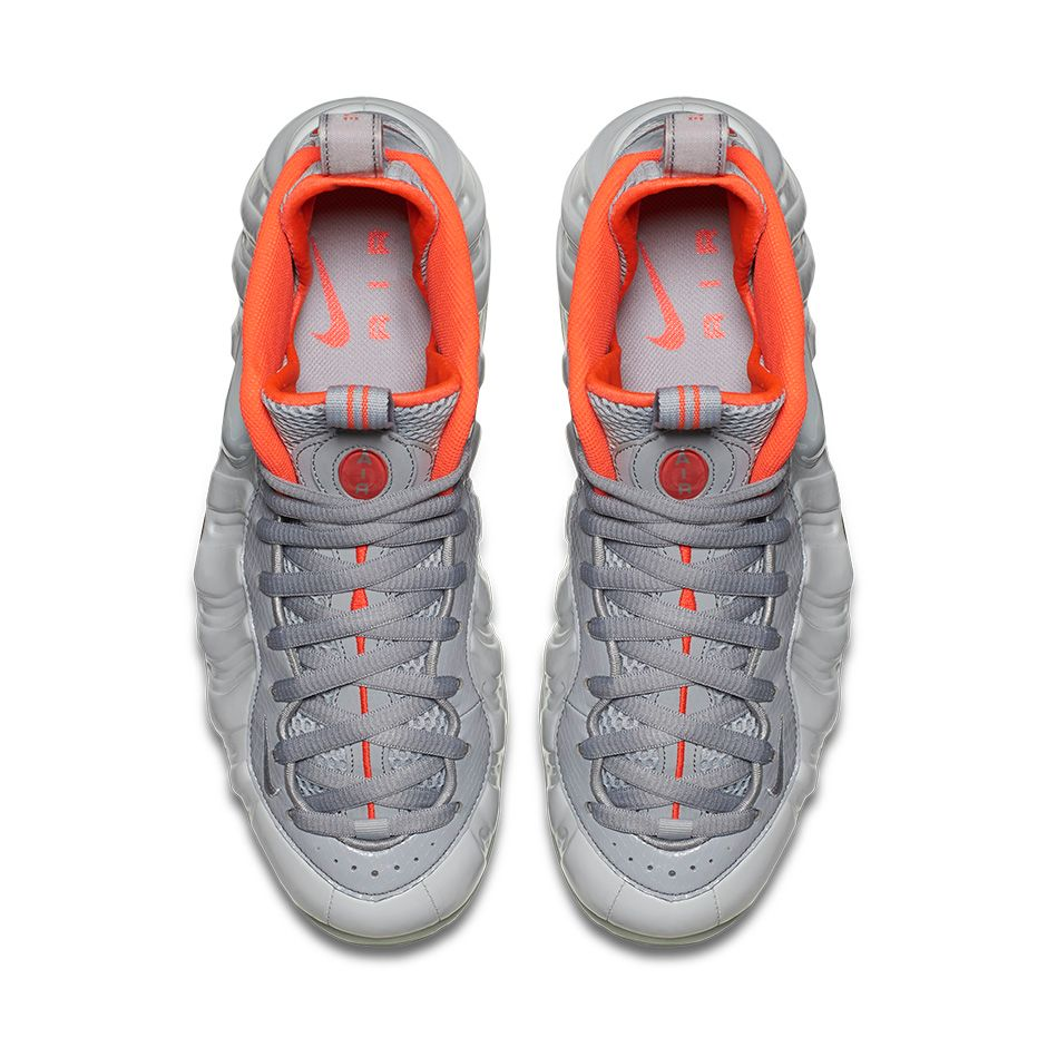 Nike Foamposite Pro Pure Platinum Yeezy top view