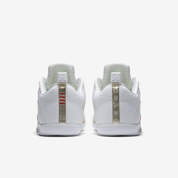 Nike Kobe 11 'White Horse' multicolor 4kb heel