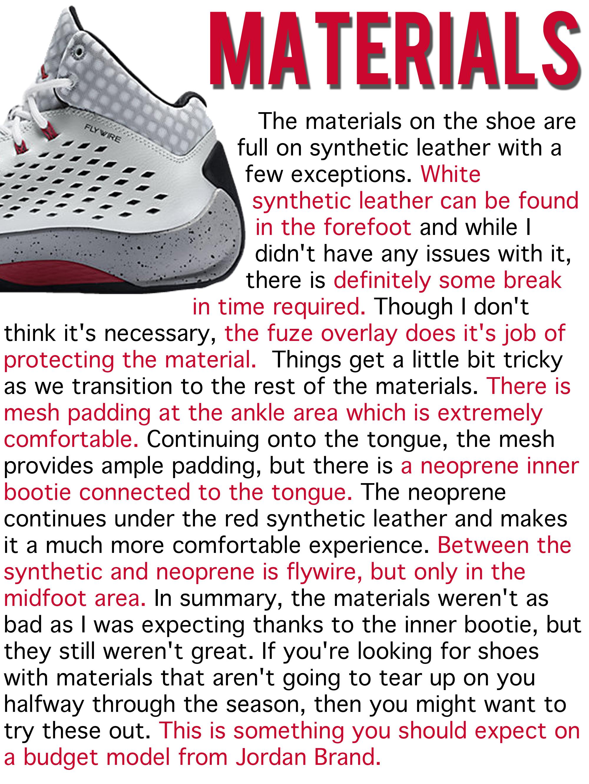 Rising High - Materials