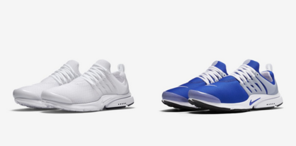 Nike Air Presto White Royal Blue New Colorways
