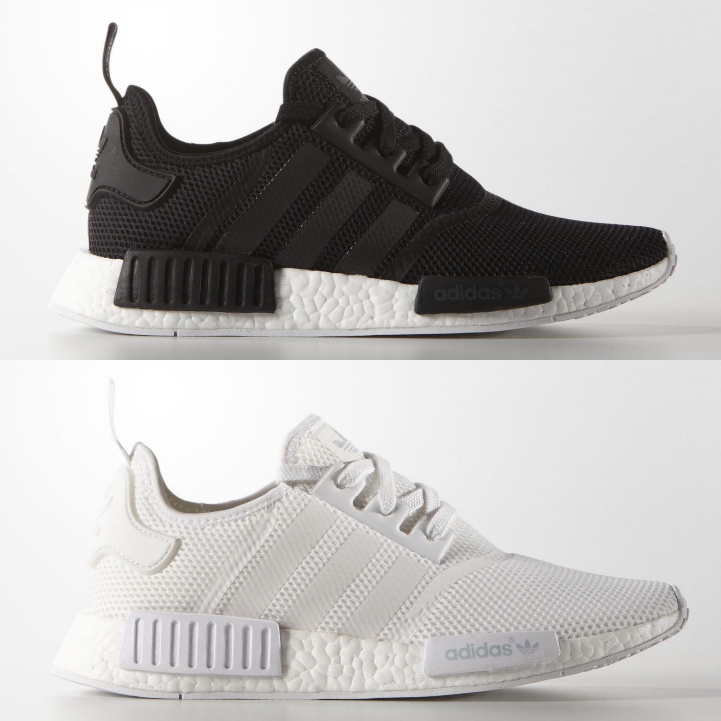 adidas nmd r1 monochrome black white