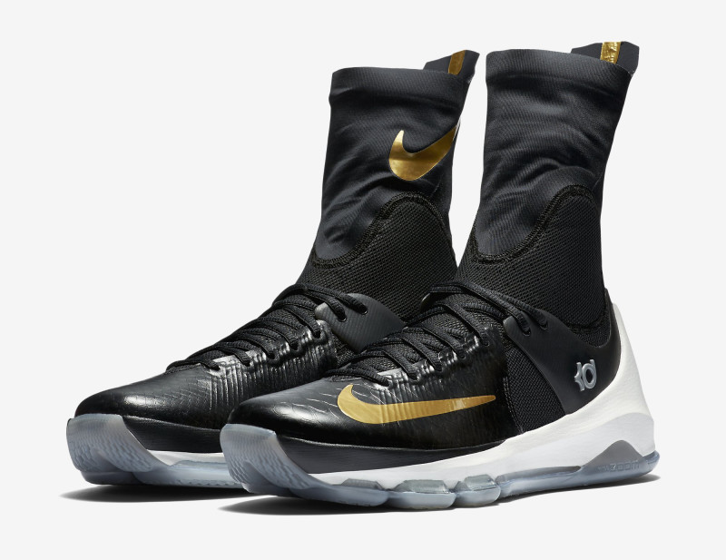Here's an Official Look at the Nike KD 8 Elite in Black & Gold-2