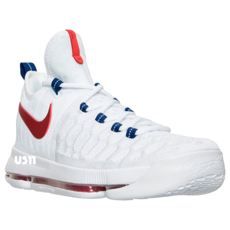 Get a Detailed Look at the Nike KD 9 in White University Red 1