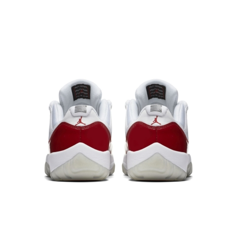Get an Official Look at the Air Jordan 11 Retro Low in White Varsity Red 3