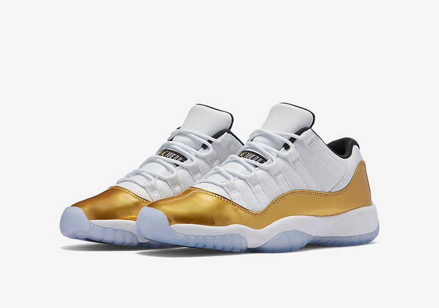 The Air Jordan 11 Retro Low Look Good in 'Metallic Gold' 1