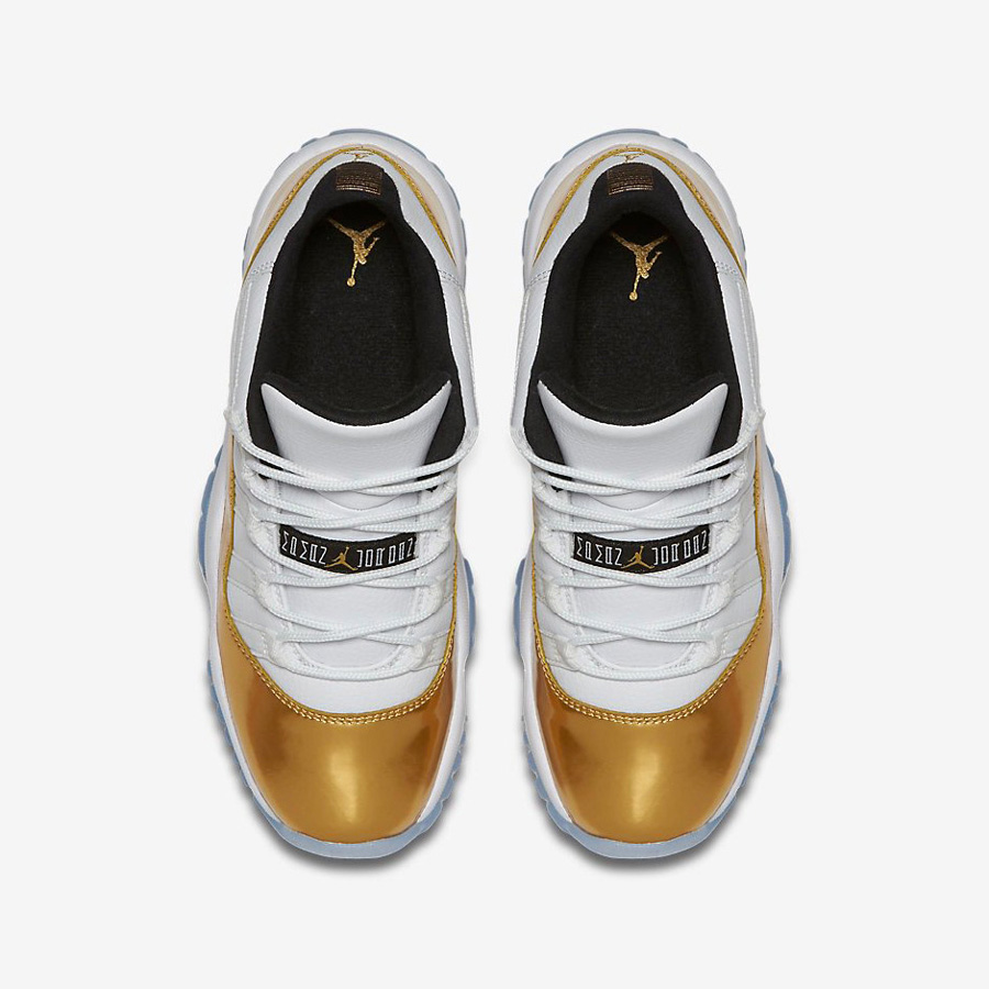 The Air Jordan 11 Retro Low Look Good in 'Metallic Gold' 2
