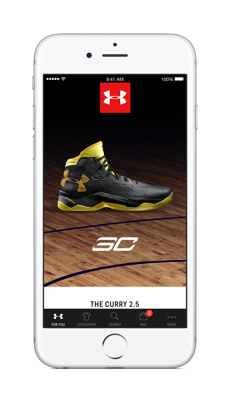 Under Armour Just Lanched the Brand's First Custom Shopping App Dubbed the UA Shop 1