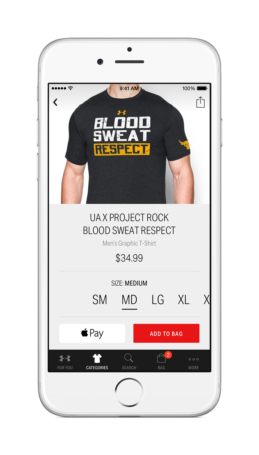 Under Armour Just Lanched the Brand's First Custom Shopping App Dubbed the UA Shop 2