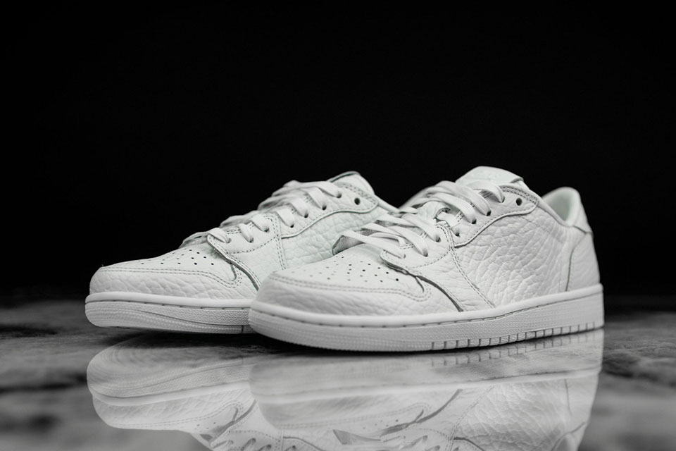 Check Out The Air Jordan 1 Low No Swoosh In Triple White