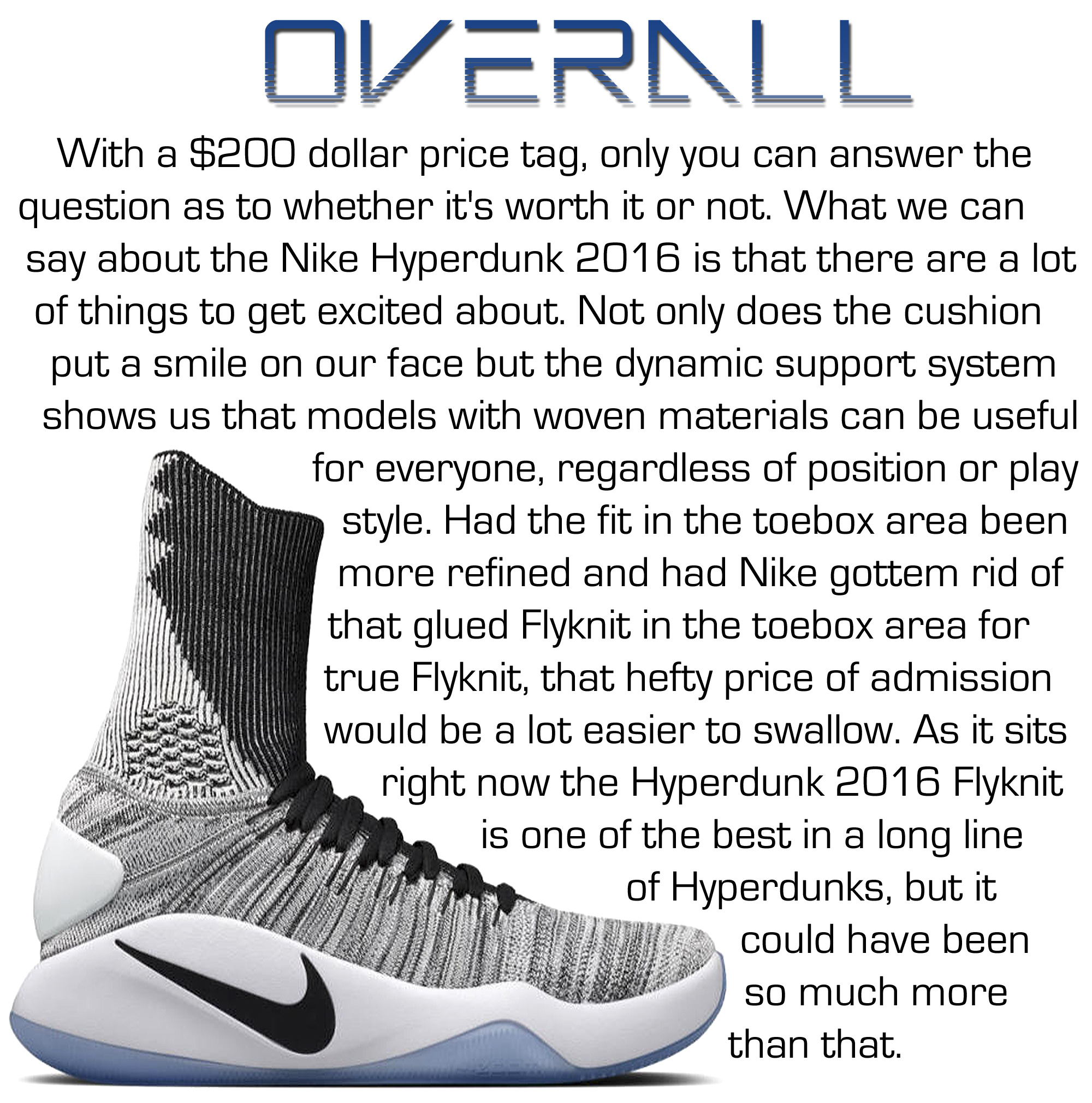 Hyperdunk 2016 Flyknit Performance Review - Overall