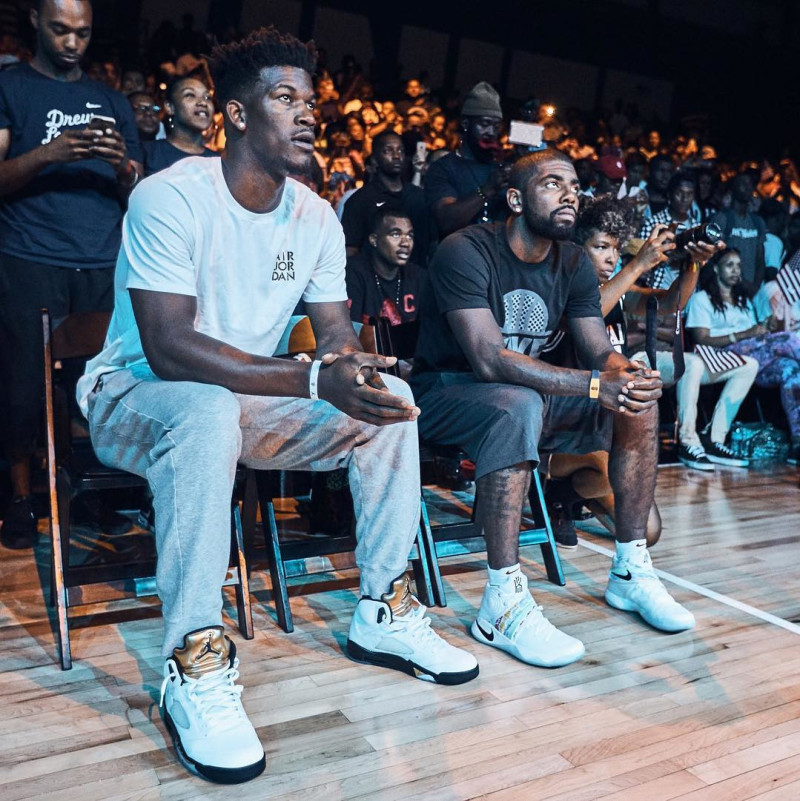 Jimmy Butler Debuts the 'Olympic' Air Jordan 5's-1