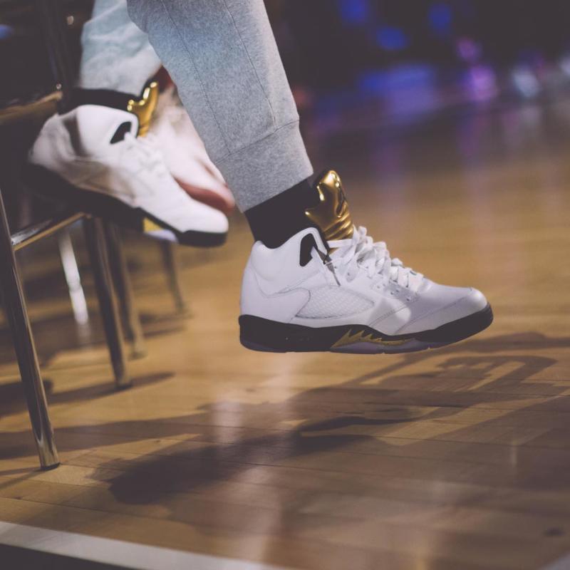 Jimmy Butler Debuts the 'Olympic' Air Jordan 5's-2