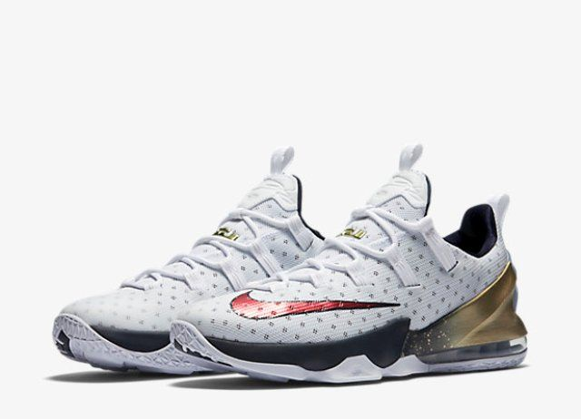 Nike Lebron XIII Low Gold Medal Full