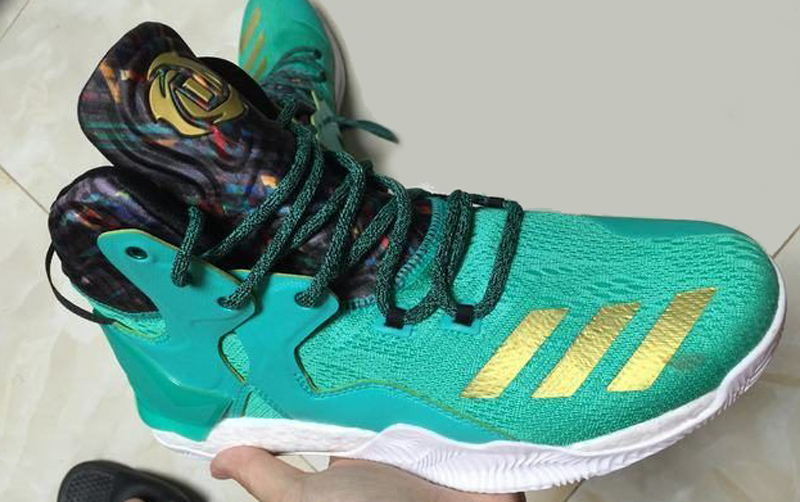 The adidas D Rose 7 is Spotted in Teal Gold 1