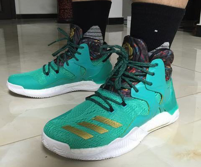 The adidas D Rose 7 is Spotted in Teal Gold 2