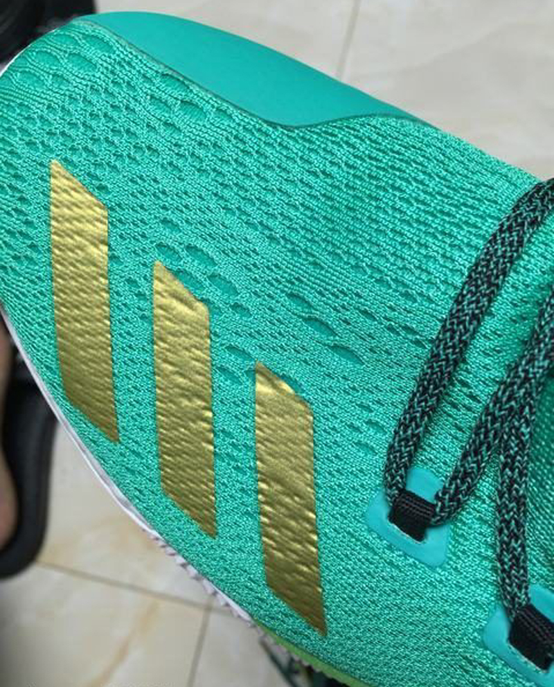 The adidas D Rose 7 is Spotted in Teal Gold 4