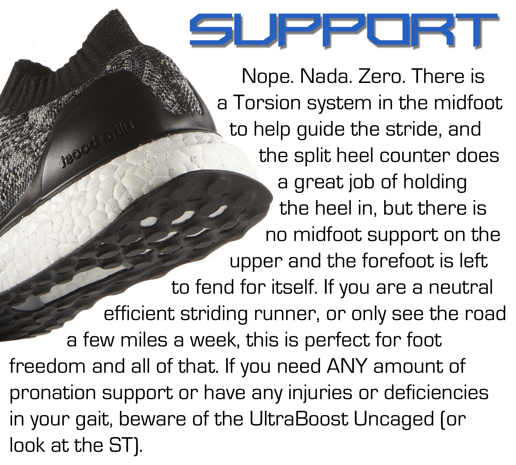 UltraBoost Uncaged - Support