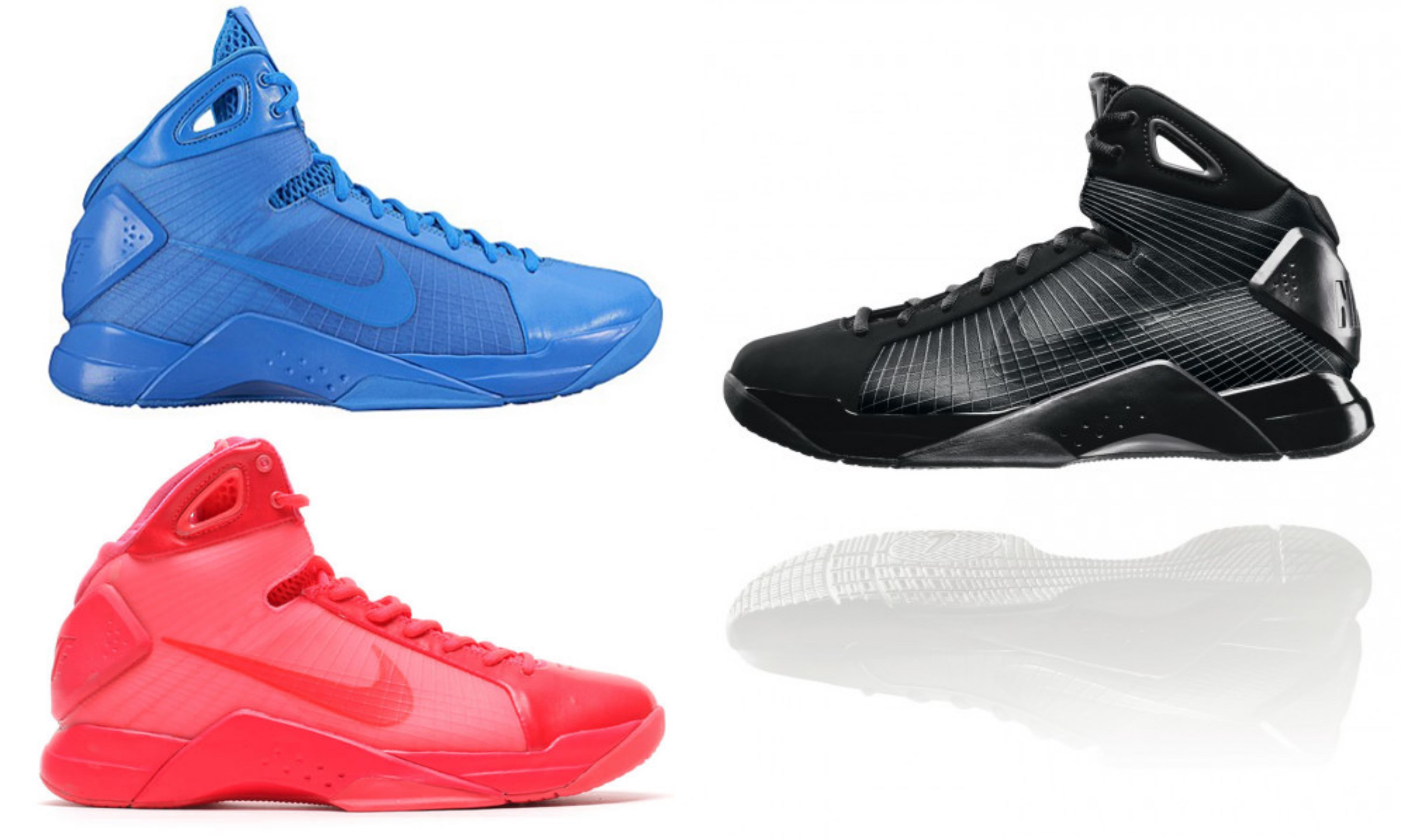nike hyperdunk 2008 retro black blue red