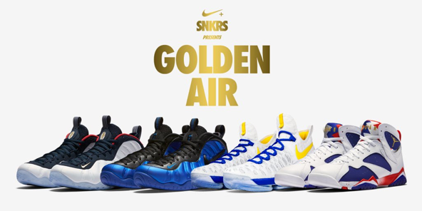 nike+ snkrs golden air