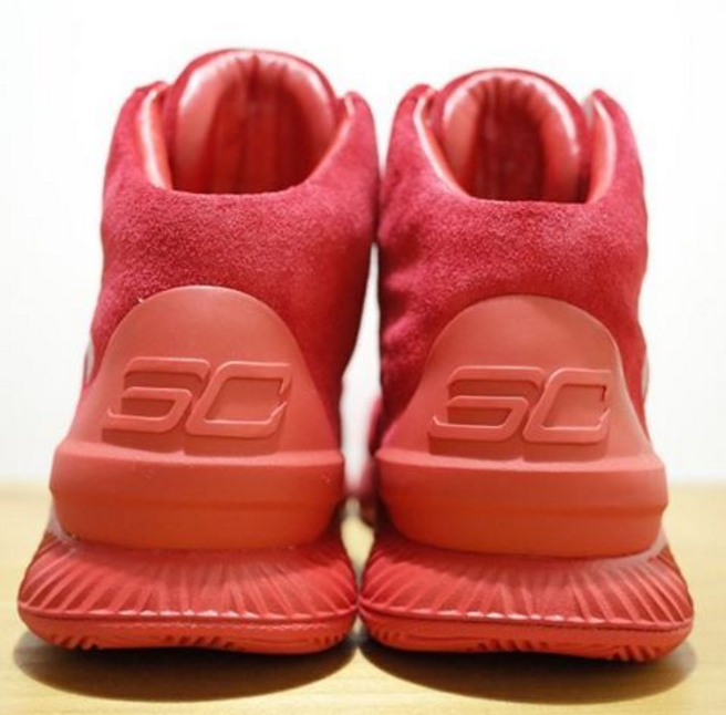under armour curry one lux red suede 2