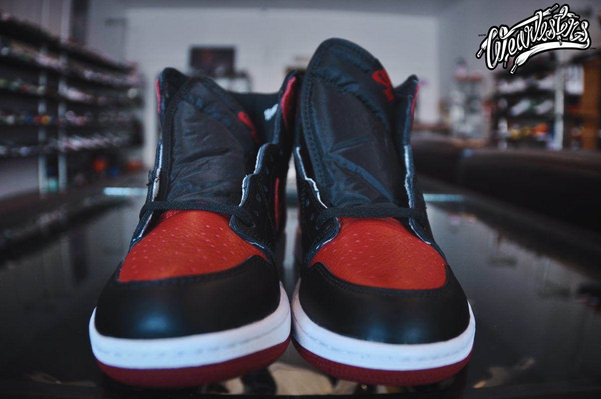 new concept fe3ed 2fcb3 An Up Close Look at the 2016 Air Jordan 1 'Banned' - WearTesters