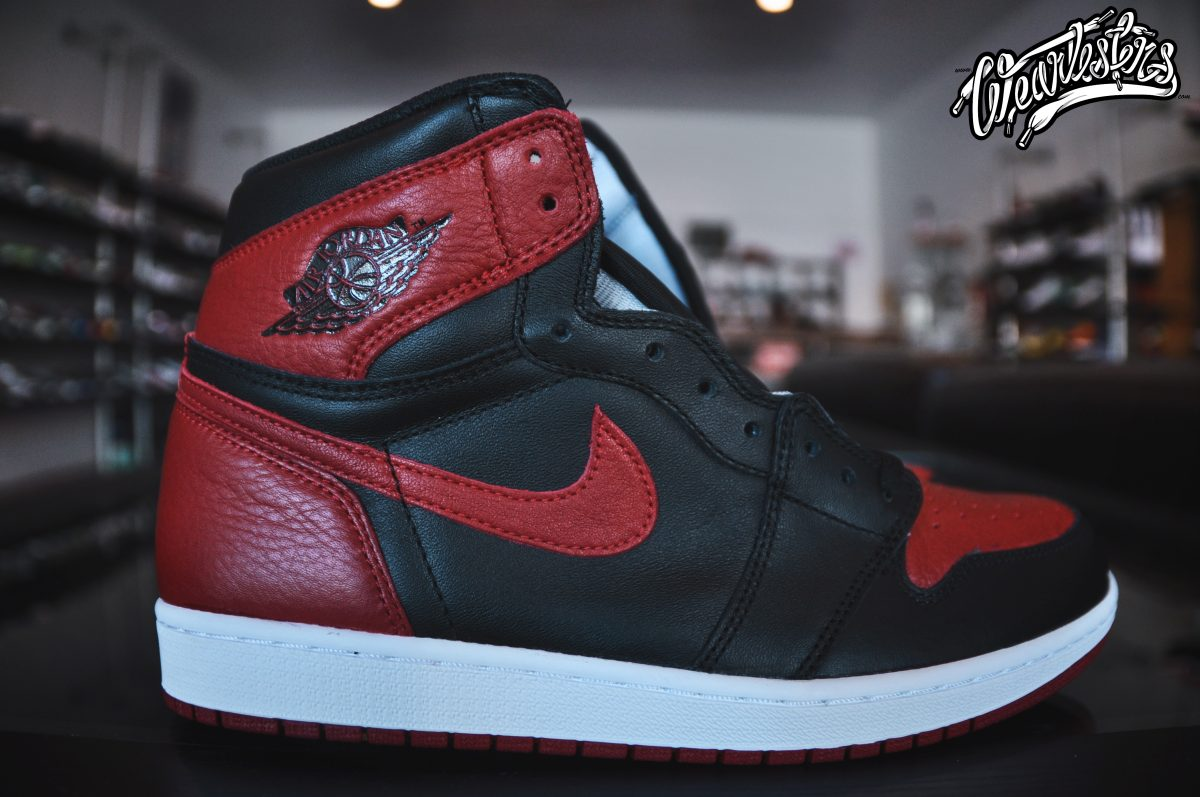 new concept ae170 4688e An Up Close Look at the 2016 Air Jordan 1 'Banned' - WearTesters