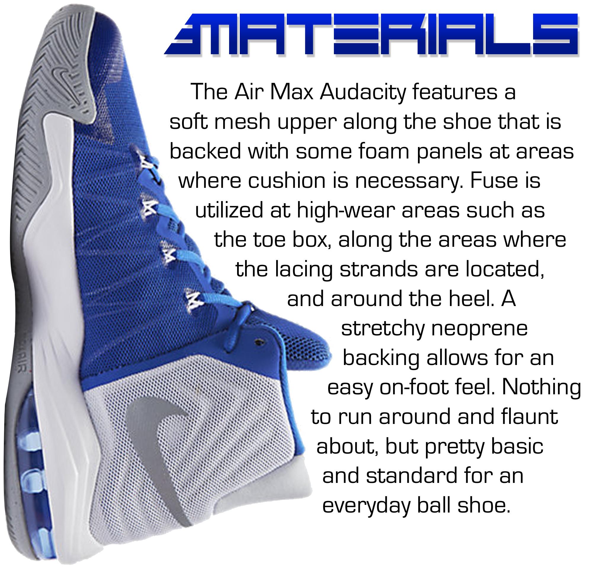 Nike Air Max Audacity - Materials