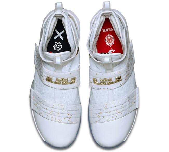 Nike Lebron Soldier 10 Gold Medal 4