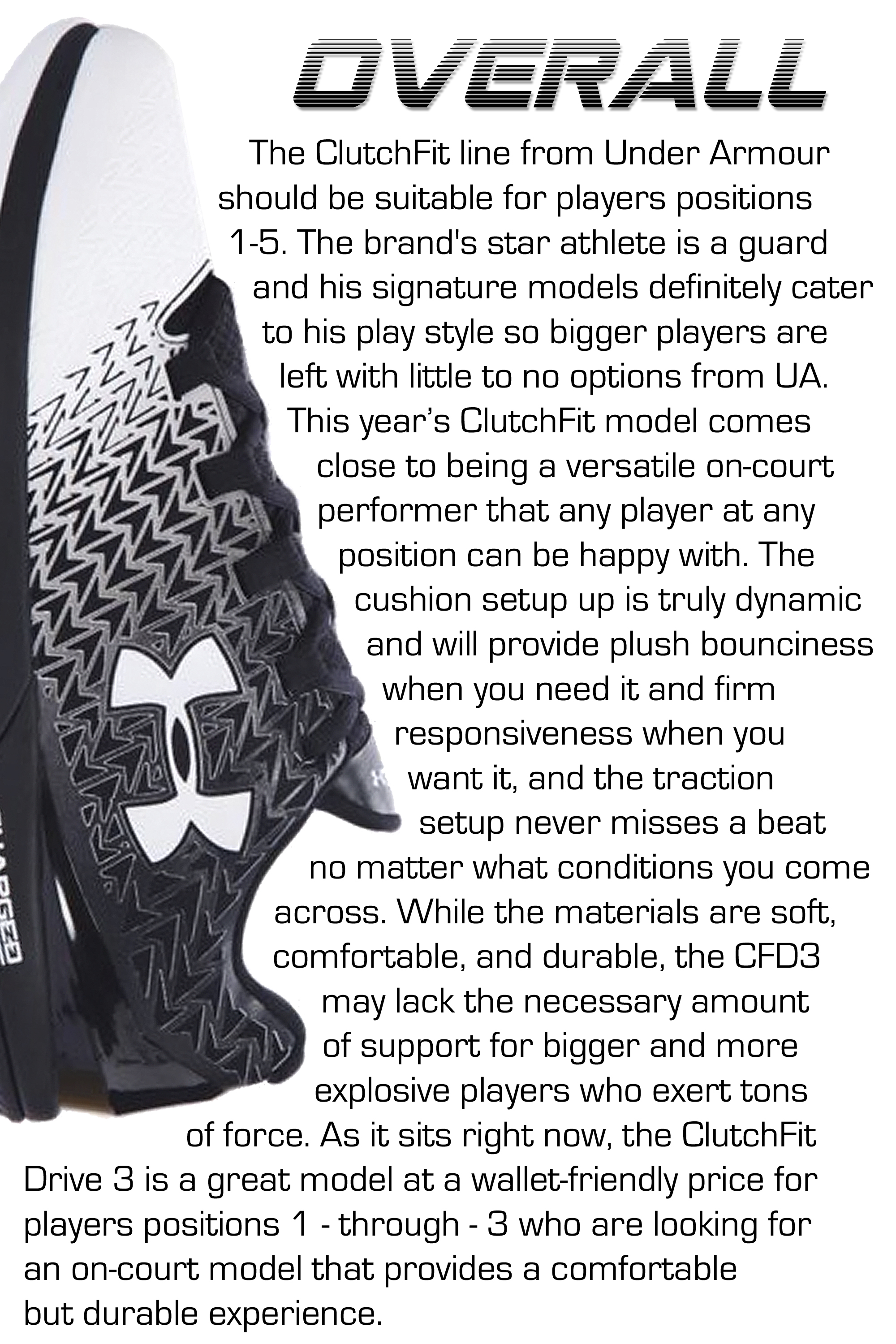 under armour clutchfit drive 3 performance review overall