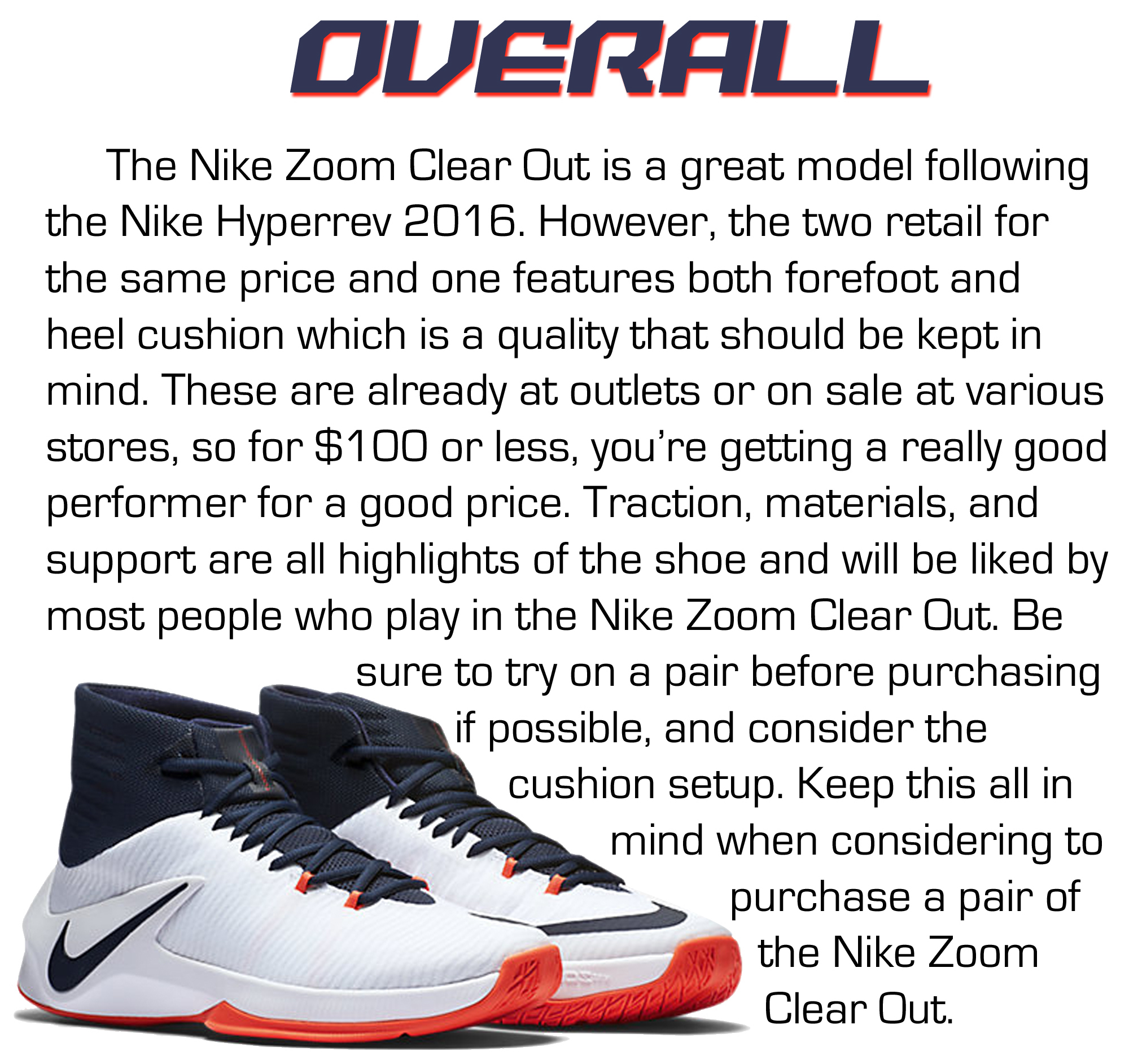 nike zoom clear out performance review 6